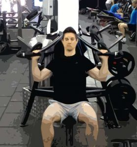 Développé épaules machine position basse