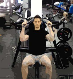 Développé épaules machine position basse neutre