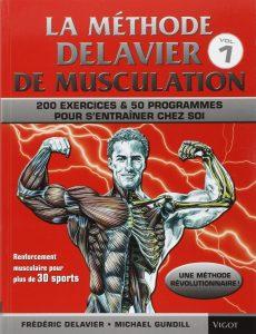 La couverture de la méthode Delavier de musculation volume 1